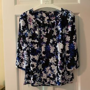 EXPRESS Water Color Floral Blouse, size XS
